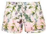River Island Mens Big and Tall Pink floral short swim shorts