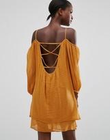 MANGO Off The Shoulder Loose Fit Dress