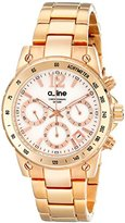 A Line a_line Women's AL-80020-RG-22MOP Liebe Chronograph White Mother-Of-Pearl Dial Rose Gold Ion-Plated Stainless Steel Watch