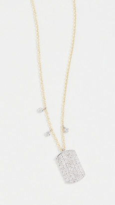 Meira T 14k Pave Dogtag Necklace