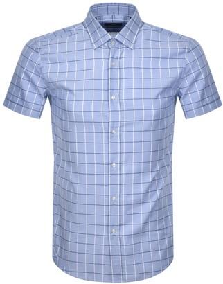 Boss Business BOSS Jats Short Sleeved Shirt Blue