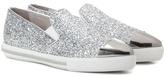 Miu Miu Glitter slip-on sneakers