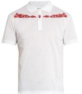 Alexander McQueen Western skull-embroidered cotton polo shirt