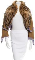 Michael Kors Mink-Trimmed Shearling Jacket