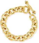 Elizabeth Locke Heavy Oval Link 19k Gold Bracelet