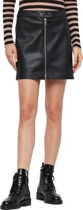 AllSaints Lena Faux Leather Miniskirt