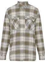 Current/Elliott Checked Cotton-Blend Flannel Shirt