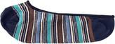 Johnston & Murphy Striped Loafer Sock