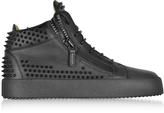 Giuseppe Zanotti Black Studded Leather High Top Sneakers