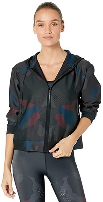 ULTRACOR Mesh Camo Polaris Zip-Up Hoodie (Burgundy Camo) Women's Clothing