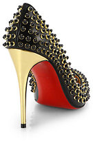 Christian Louboutin Foll Cabo Beaded Leather Pumps