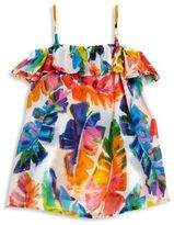 Milly Minis Toddler's, Little Girl's & Girl's Banana Leaf-Print Off-The-Shoulder Dress