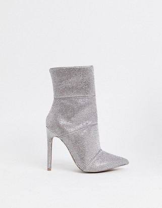 Steve Madden Winona rhinestone stiletto heeled ankle boots