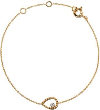 As 29 18kt yellow gold Mye pear beading diamond bracelet