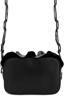 RED Valentino ROCK RUFFLE LEATHER CAMERA BAG