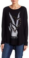 Lauren Moshi Front Graphic Knit Shirt