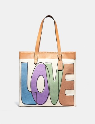 Coach Tote 38 With Love Print