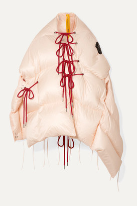 Simone Rocha Moncler Genius - 4 Shari Lace-up Quilted Shell Jacket - Beige