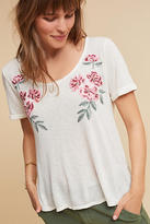 Anthropologie Embroidered Linen Top