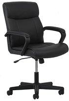 Essentials Leather Executive Office/Computer Chair - Ergonomic Swivel Chair, Black (ESS-6010)