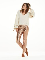Scotch & Soda Metallic Leather Trousers