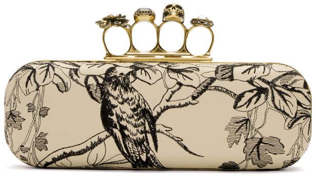Alexander McQueen Off-White Garden Knuckle Box Clutch
