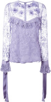 Elie Saab lace blouse - women - Silk/Nylon/Polyester - 36
