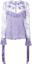 Elie Saab lace blouse - women - Silk/Polyester/Nylon - 36