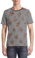 The Kooples Floral Striped T-Shirt
