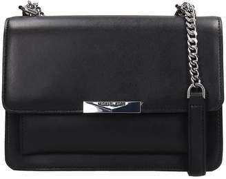 Michael Kors Shoulder Bag In Black Leather