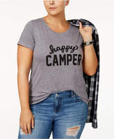 Sub Urban Riot Trendy Plus Size Happy Camper Graphic T-Shirt