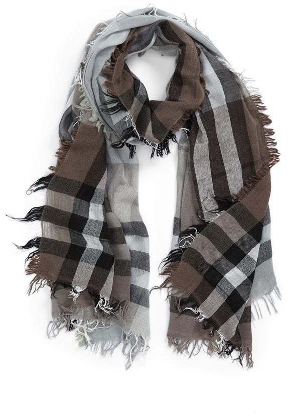 Nordstrom Plaid Wool Blend Scarf