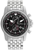 Tommy Bahama Men's 10018322 Paradise Pilot Dual Time Chronograph Analog Display Japanese Quartz Silver Watch