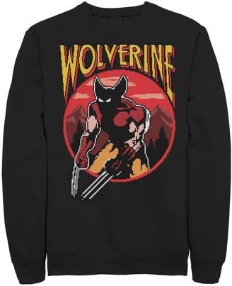 Wolverine Unbranded Men's X-Men NES Circle Portrait Logo Fleece Graphic Top