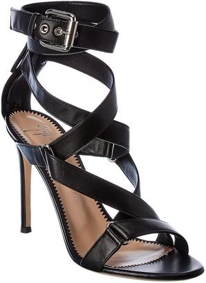 Giuseppe Zanotti Larissa Ankle Wrap Leather Sandal