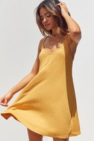 Silence & Noise Silence + Noise Wide-Ribbed Knit Slip Dress