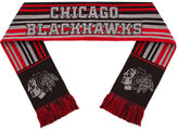 Forever Collectibles Chicago Blackhawks Glitter Stripe Scarf