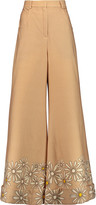 Natasha Zinko Printed wool-blend wide-leg pants