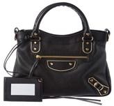 Balenciaga Metallic Edge Town Leather Shoulder Bag.