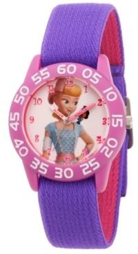 EWatchFactory Girl's Disney Toy Story 4 Bo Peep Purple Plastic Time Teacher Strap Watch 32mm