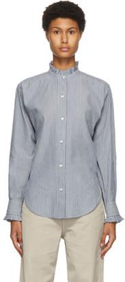 Etoile Isabel Marant Blue and White Stripe Saoli Shirt
