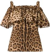 Dolce & Gabbana leopard print top - women - Cotton - 38