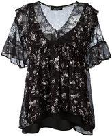 Twin-Set lace trim floral print blouse