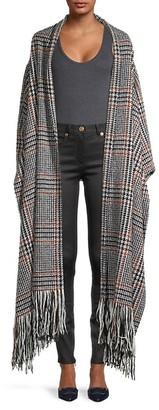 Oscar de la Renta Plaid Wool-Blend Coat
