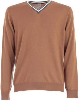 Eleventy Sweater L/s V Neck