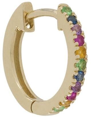 Otiumberg 9kt yellow gold Rainbow huggie hoop
