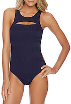 Nautica Ocean Isle High Neck Cut-Out One-Piece