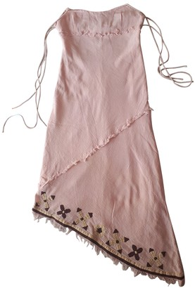 Replay Pink Cotton Dress for Women