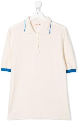 Marni TEEN terrycloth polo shirt