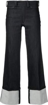 Junya Watanabe flared cropped jeans